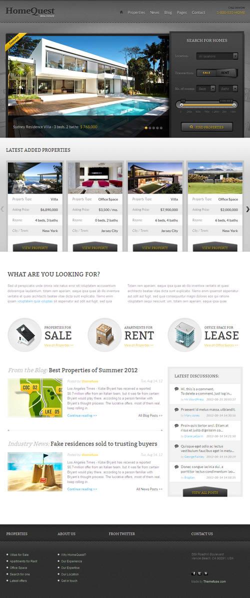 HomeQuest WordPress Theme