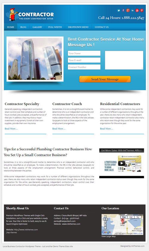LocalBusiness WordPress Theme
