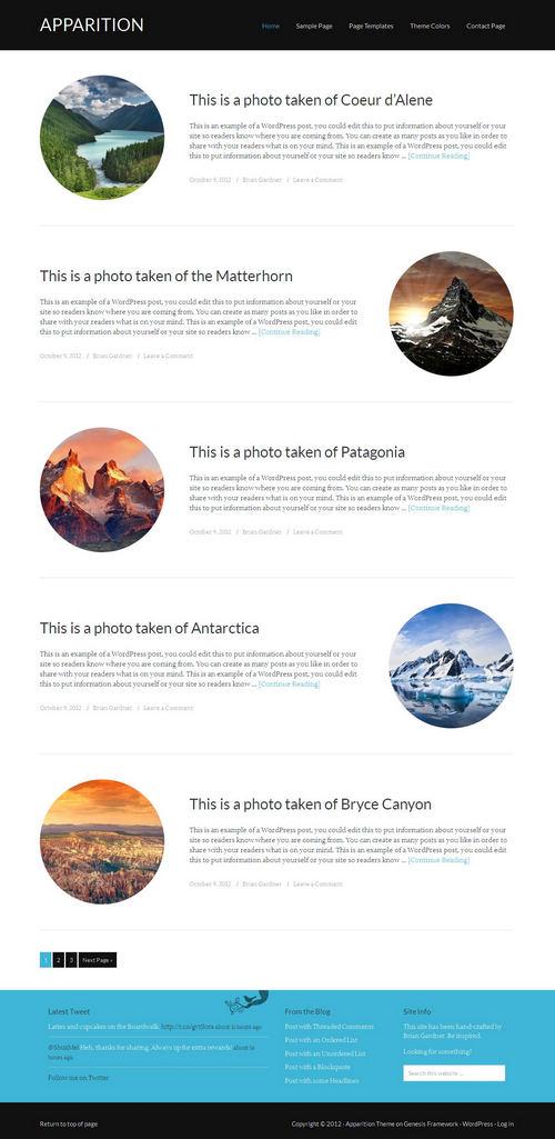 Apparition WordPress Theme