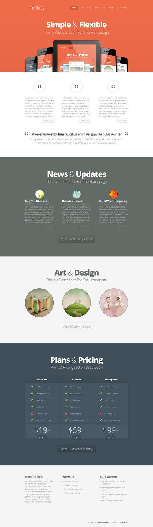 Nimble Responsive WordPress Theme