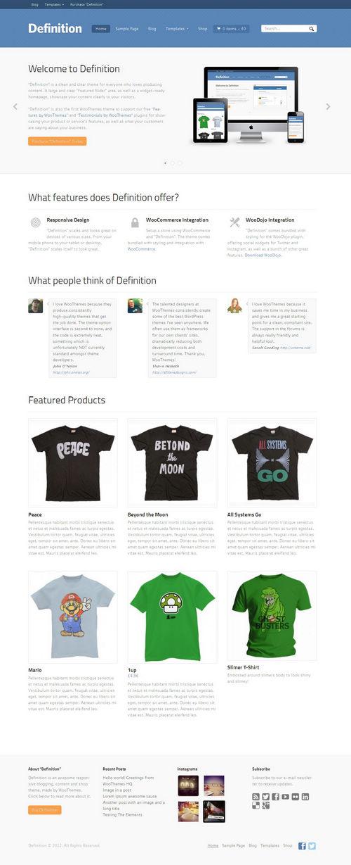 Definition WordPress Theme