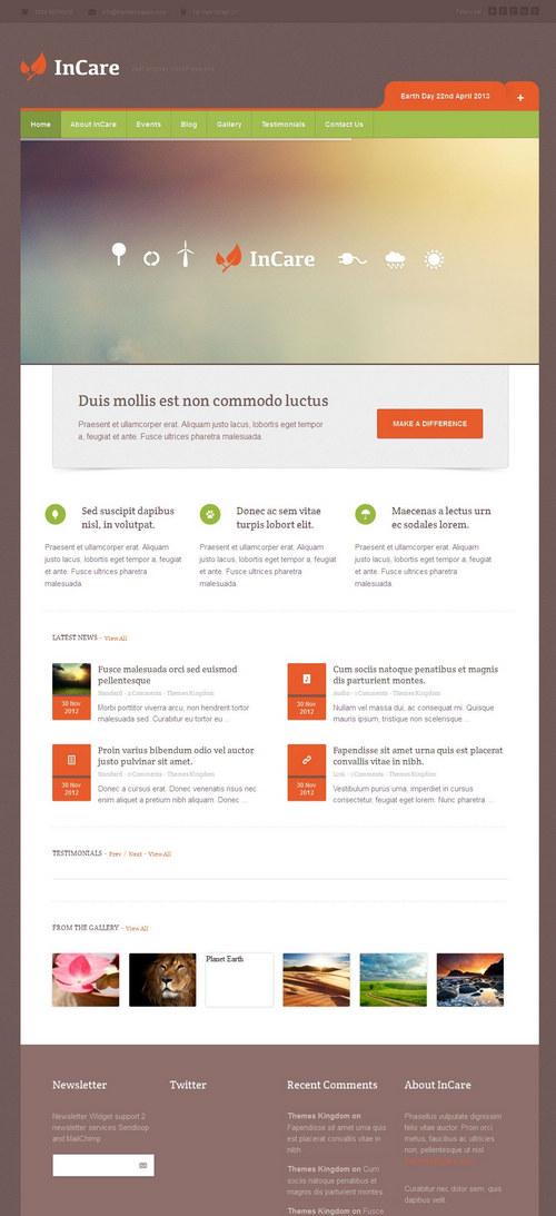 Incare WordPress Theme