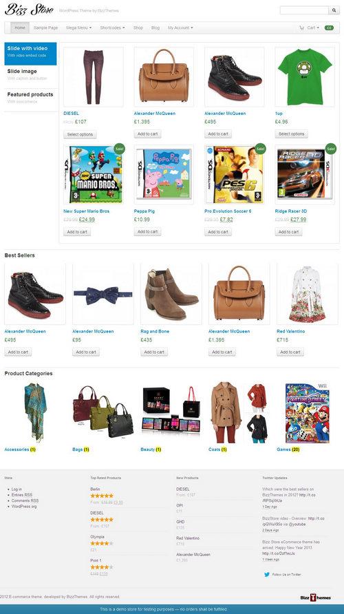 Bizz Store WordPress Theme