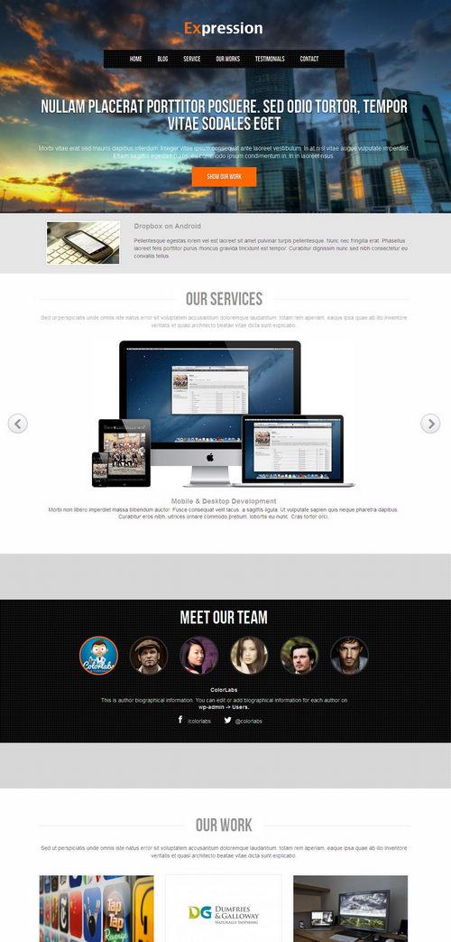 Expression WordPress Theme