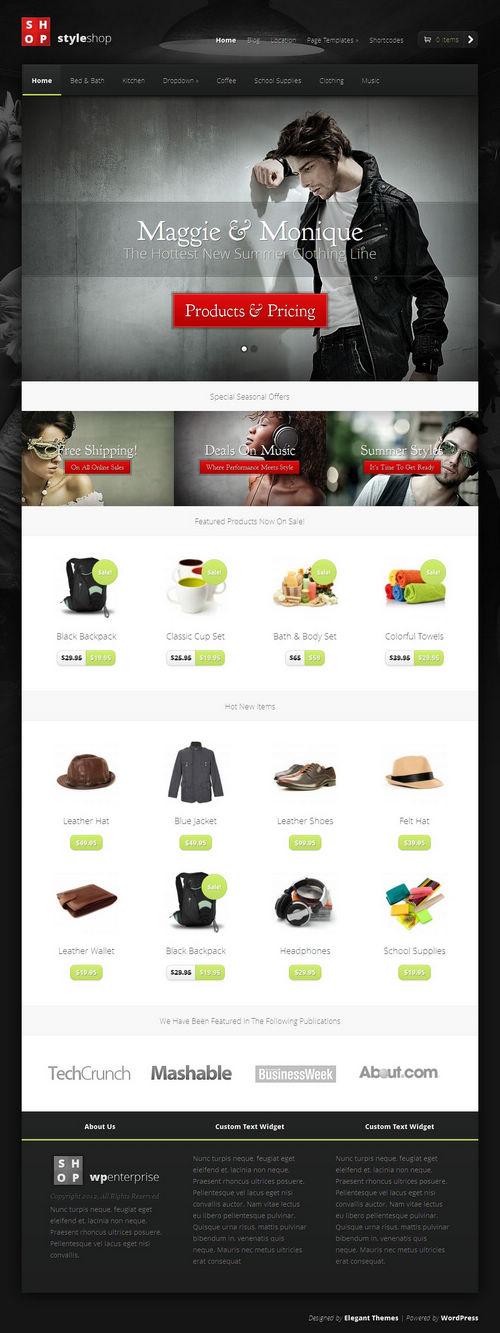 StyleShop WordPress Theme