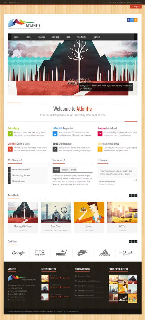 Atlantis WordPress Theme