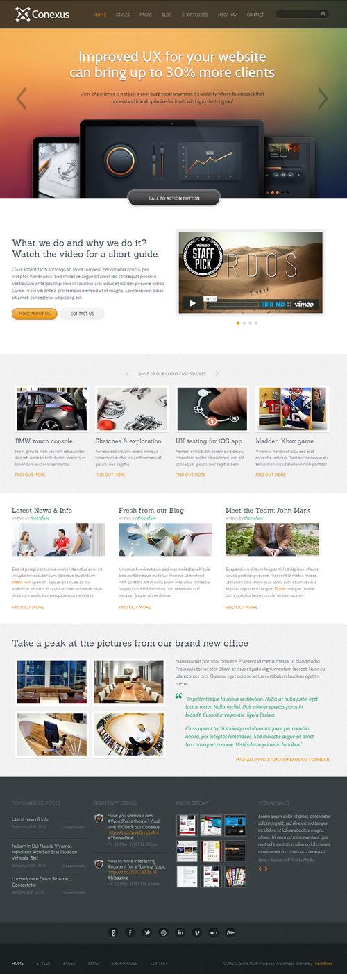 Conexus WordPress Theme