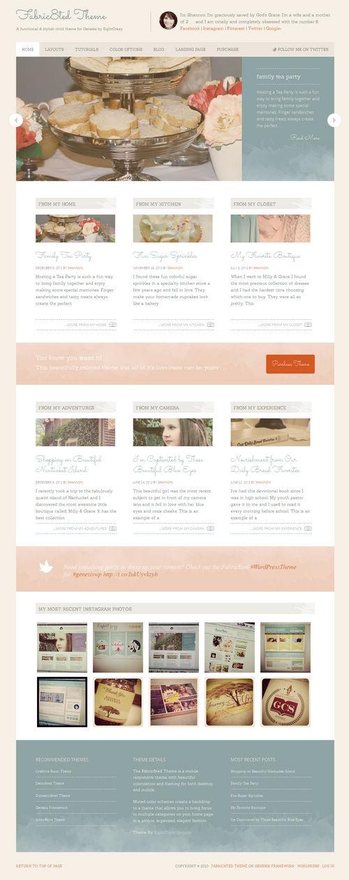 Fabric8ted WordPress Theme