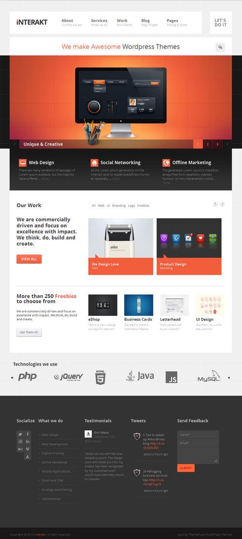 Interakt WordPress Theme