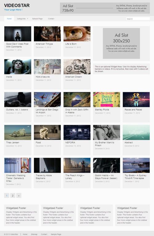 VideoStar WordPress Theme