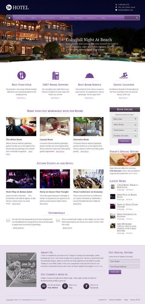 5 Star WordPress Theme