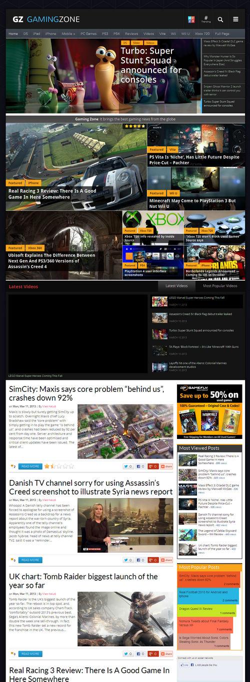 GamingZone WordPress Theme