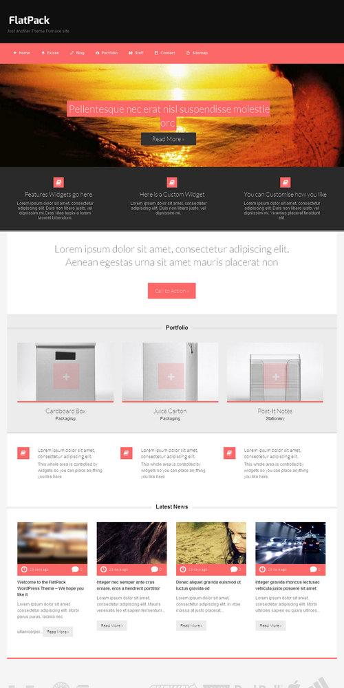 FlatPack WordPress Theme