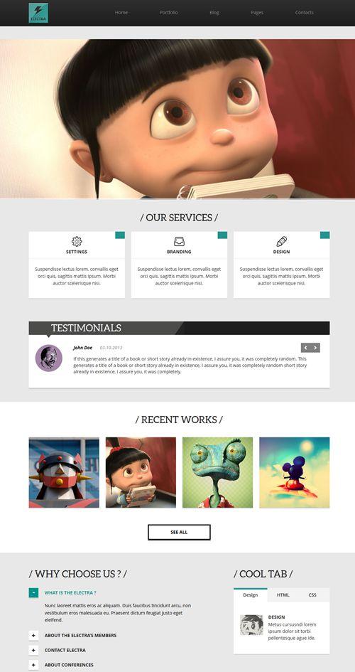 Electra WordPress Theme