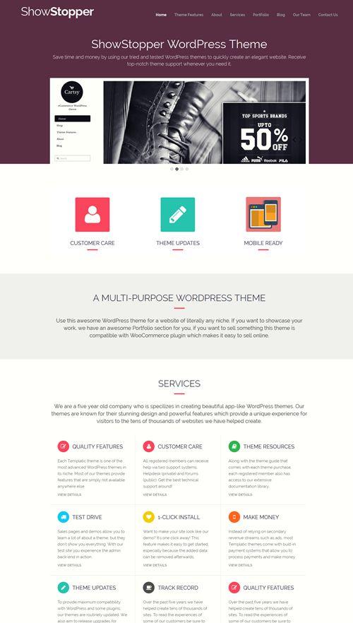 Showstopper WordPress Theme