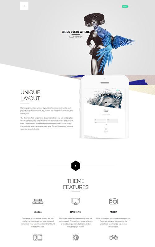 Flamingo WordPress Theme
