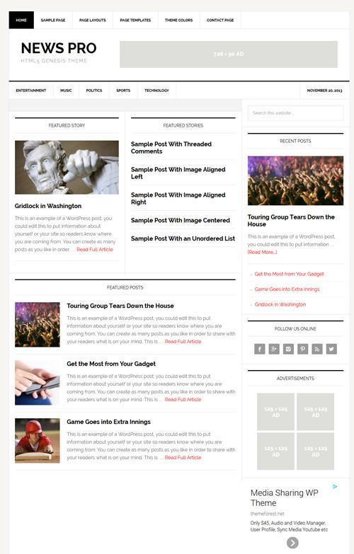 News Pro Theme by StudioPress