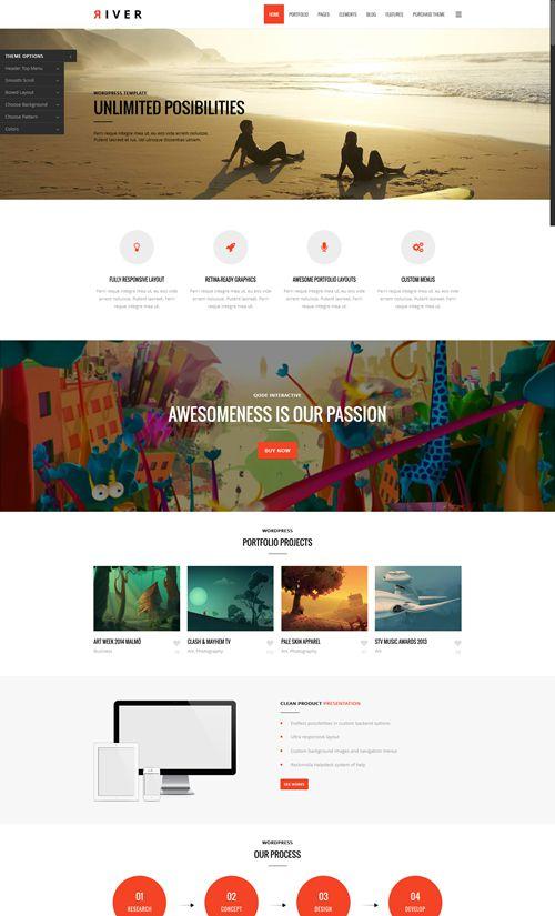 River WordPress Theme