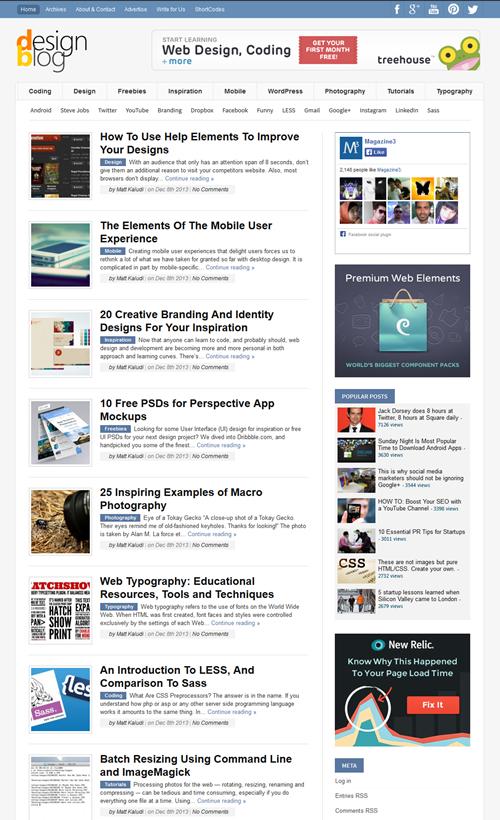 DesignBlog WordPress Theme