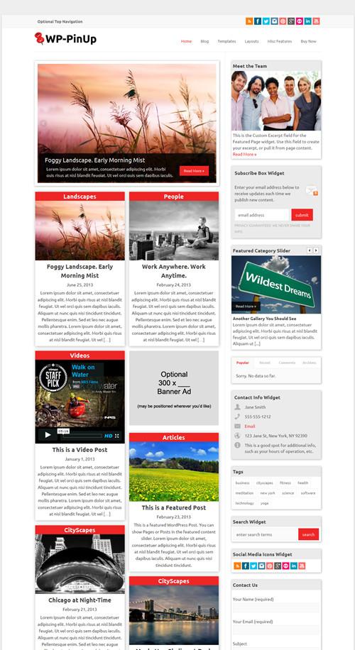 WP-PinUp WordPress Theme