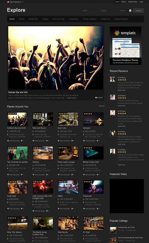 Explore WordPress Theme