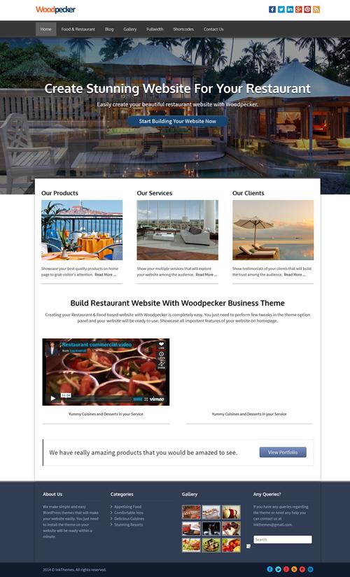 Woodpecker WordPress Theme