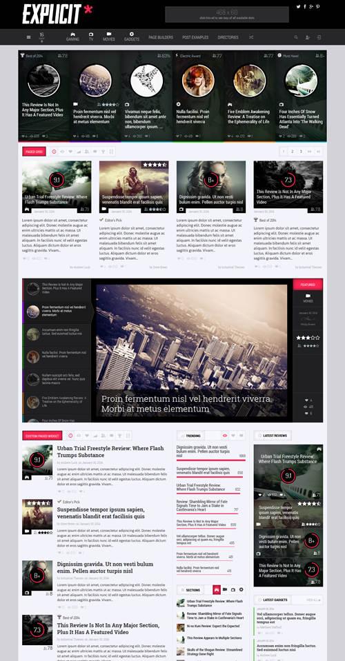 Explicit WordPress Theme