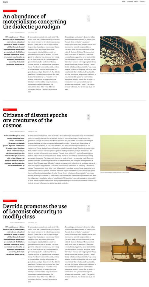 Tinos WordPress Theme