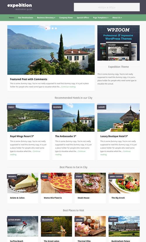 Expedition WordPres Theme