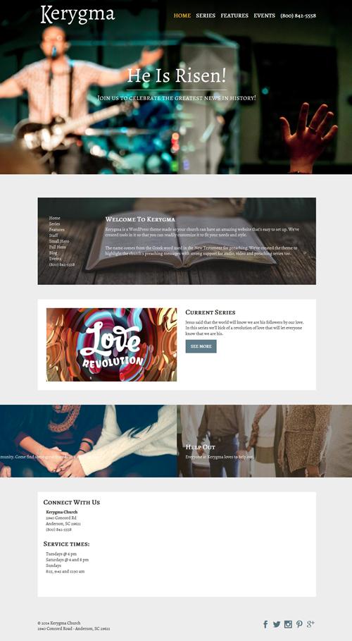 Kerygma WordPress Theme