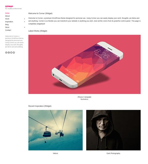 Corner WordPress Theme