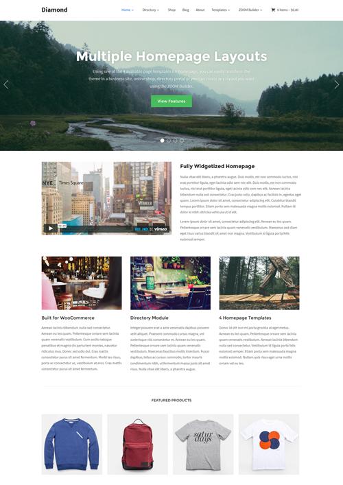 Diamond WordPress Theme