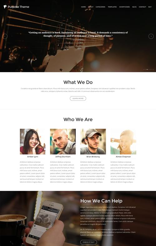 Purpose WordPress Theme