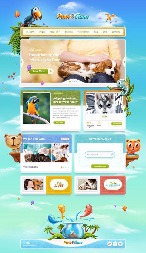 Paws & Claws WordPress Theme