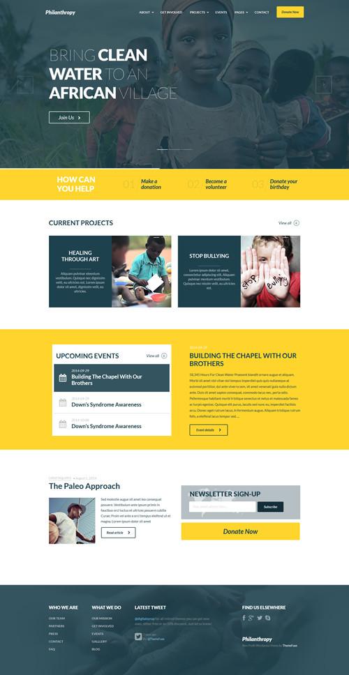 Philanthropy WordPress Theme