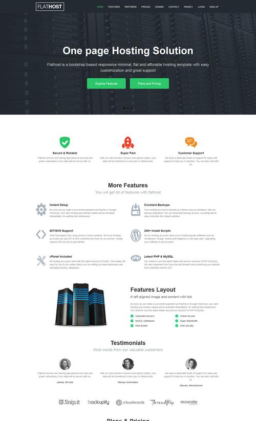 FlatHost WordPress Theme