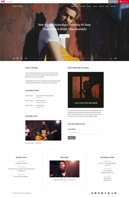 TwoTone WordPress Theme