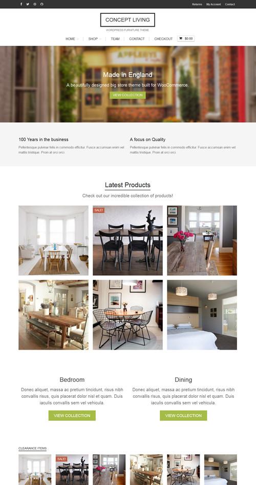 Concept Living WordPress Theme