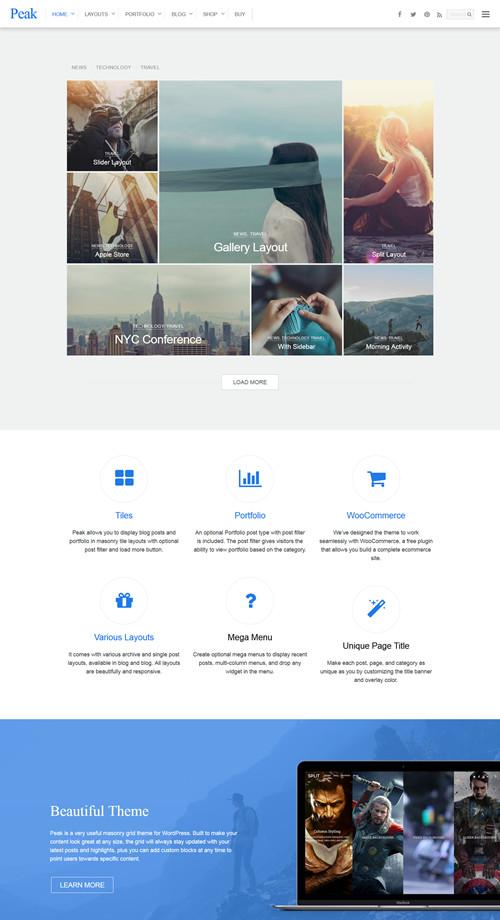 Peak WordPress Theme