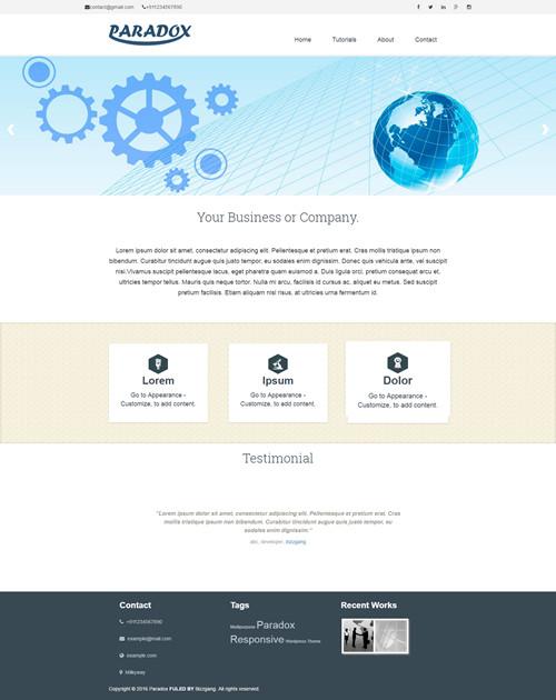 Paradox WordPress Theme