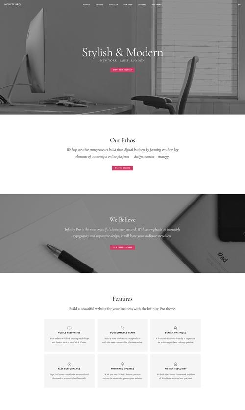 Infinity Pro WordPress Theme