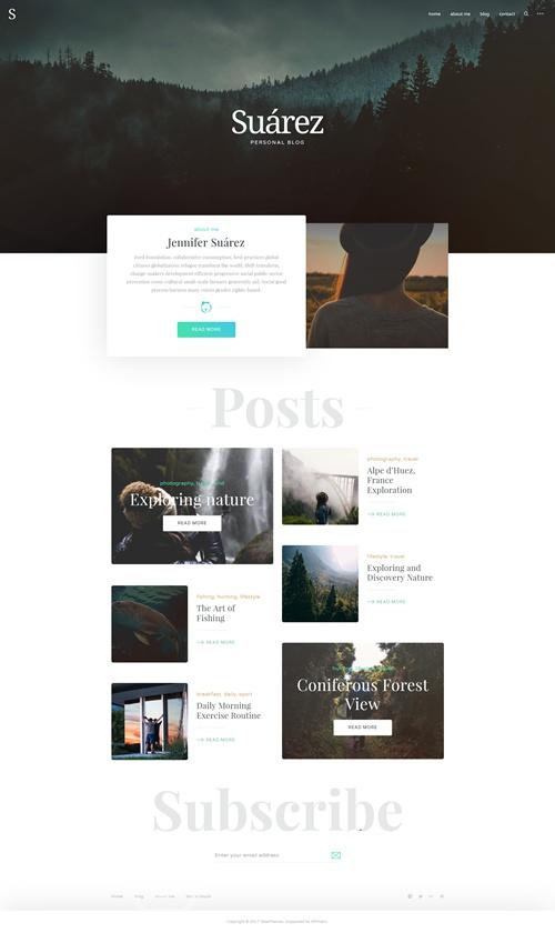 Suarez WordPress Theme